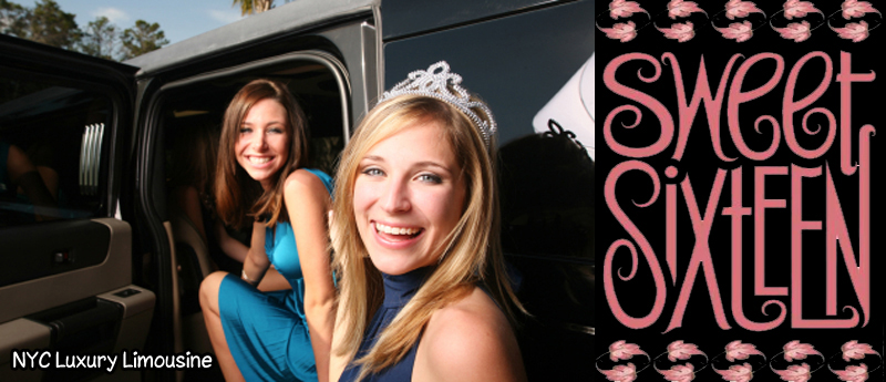 Sweet 16 suv limousine sweet 16 party bus and sweet 16 coach bus